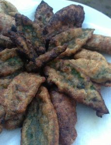 Comfrey Leaf Fritters